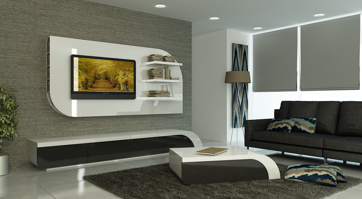 Simple Room Design With Tv