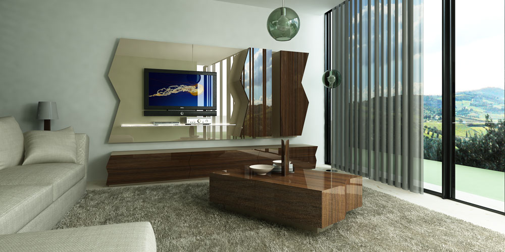 Za07 za08 za06 modern tv unit from zag line - Modern tv unit design for living room ...